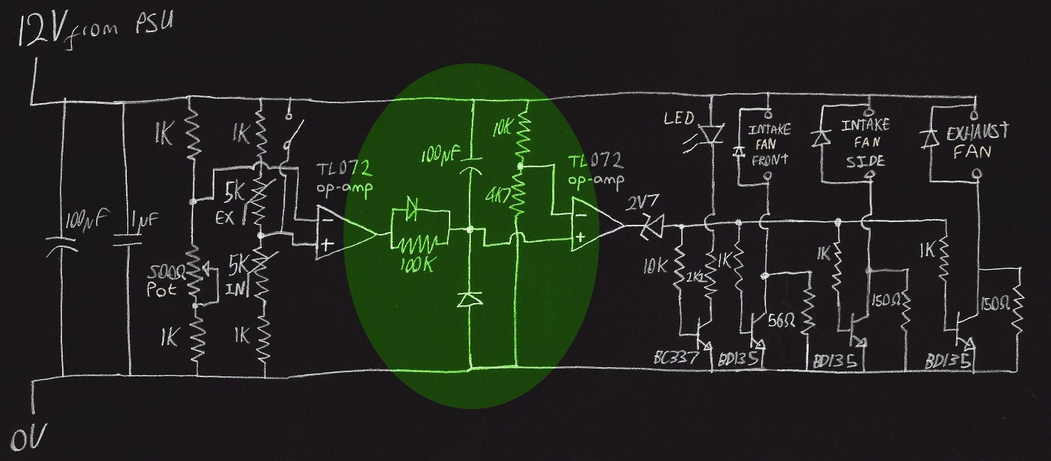 circuit diagram with timer stage highlighted