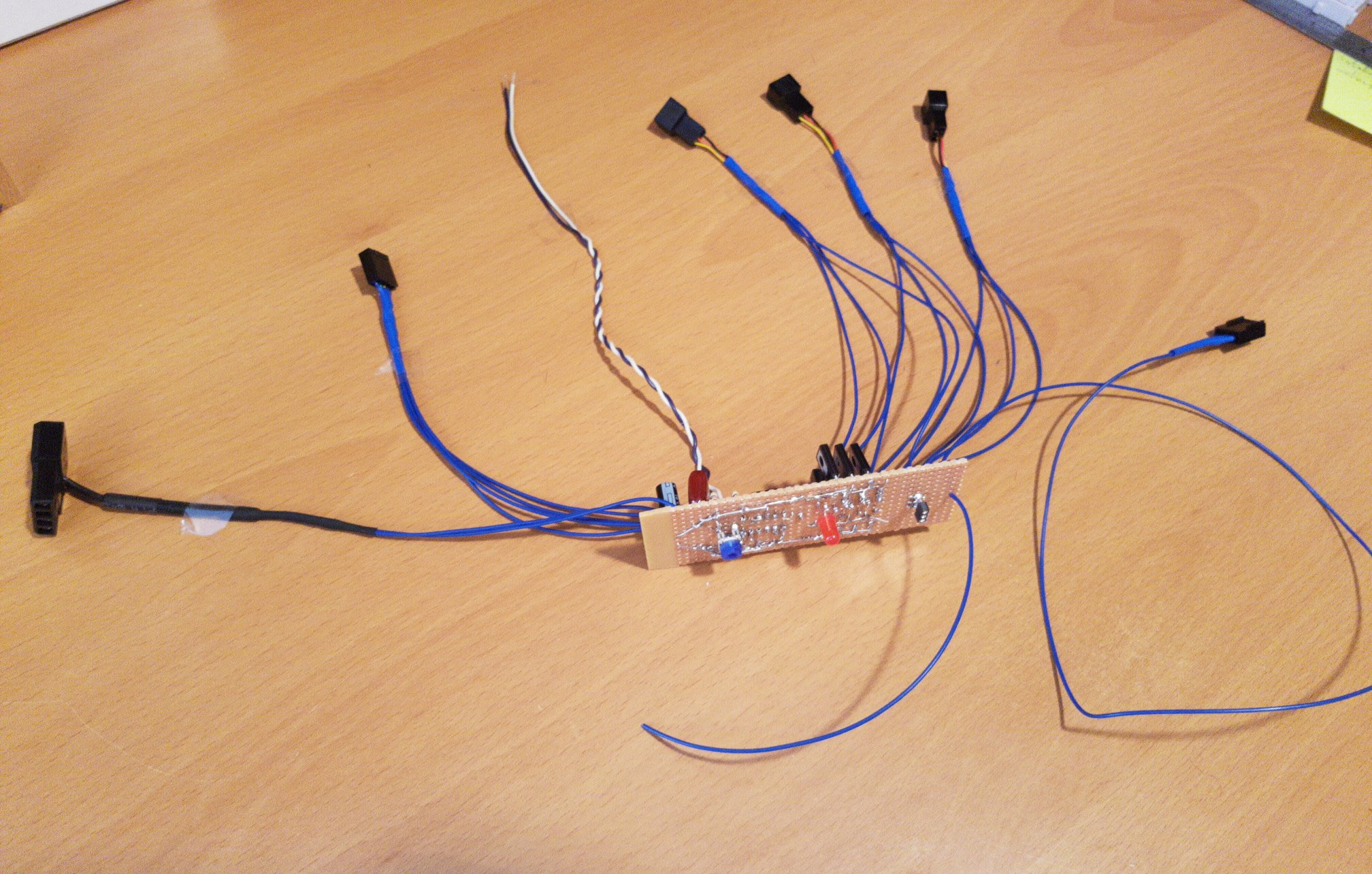 circuit with all cables on