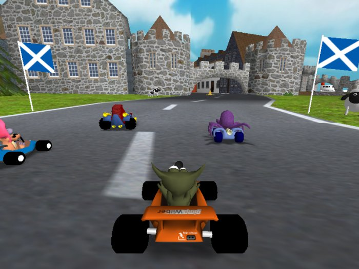 racing game screenshot