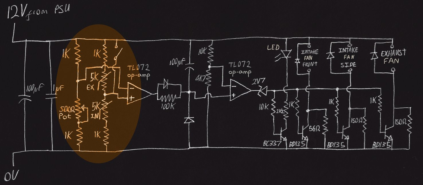 Better Speed Control For Case Fans Naughty Computer High Temperature Detector Circuit Diagram With Detection Stage Highlighted